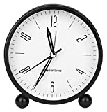 Sveglia Allarme analogico Alla sveglia Sveglia silenziosa Allarme non- ticchettante Mini orologio al quarzo dello studente con allarme ad alto volume e luce notturna Timer casa ( Color : 2pcs )