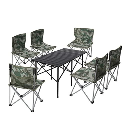 UELEGANS Mesa Silla De Camping Plegable, Silla Portátil Ultraligera, Bolsa De Transporte,...