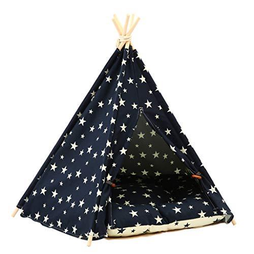 Cama para mascotas con diseño de cielo estrellado, con cojín Luxery para perros, gatos, tiendas de campaña, cálidas, cómodas y fáciles de quitar.