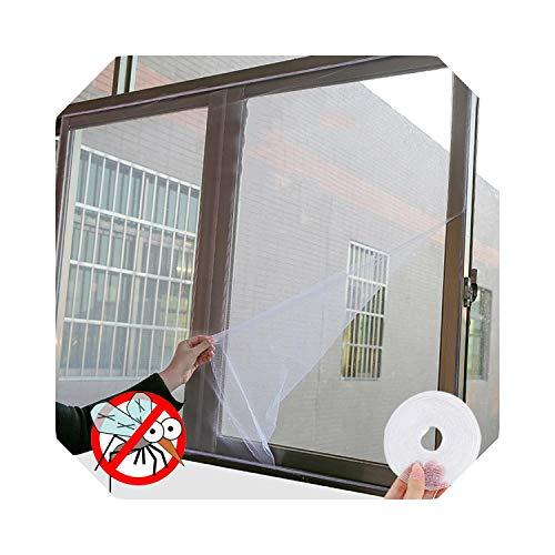 Eileen Ford Netz für Zwilling |Insektenschutz-Fensternetz-Kit Fly Bug Wasp Moskito-Vorhang-Netz Netzabdeckung Insektenfenster-Netz & Klebeband - Schwarz - 1,3 x 1,5 m