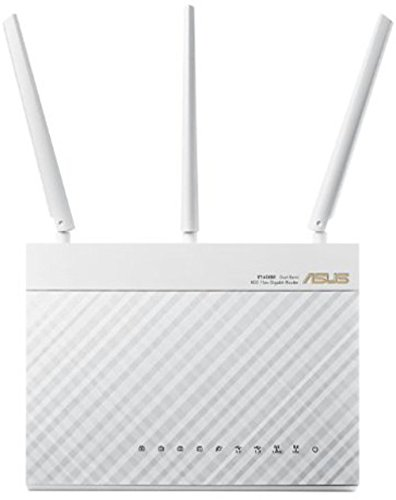 Asus RT-AC68U Router (AiMesh, WiFi 5 AC1900, 4x Gigabit LAN, App-besturing, AiProtection, Multifunctionele USB 3.0) wit