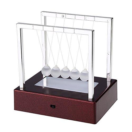 Fdit Balance Balls Buntes LED-Licht Home Office Science Toy Desk Dekoration Kunstwerk Geschenke