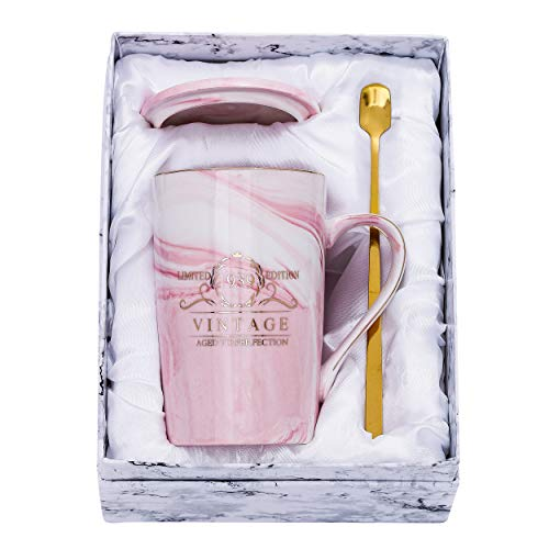 Fantaspara 1939 81st Birthday Gifts for Women and Men Ceramic Mug - Funny Vintage 1939 Aged To Perfection - Anniversary Gift Idea for Him, Her, Mom, Dad Husband or Wife 14oz birthday mug Pink