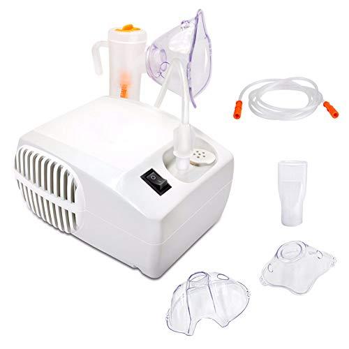 Inhaler Compressor Nebulizer Machine White System Kit