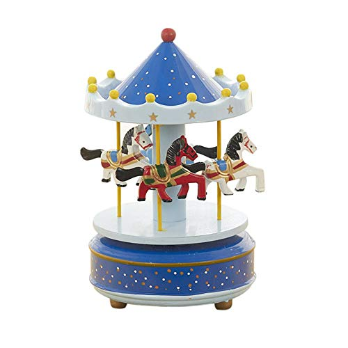 Caja de música de madera de carrusel, carrusel, caja de música, Sky City Konisch, clásica, regalo de cumpleaños para niños, Navidad, festival