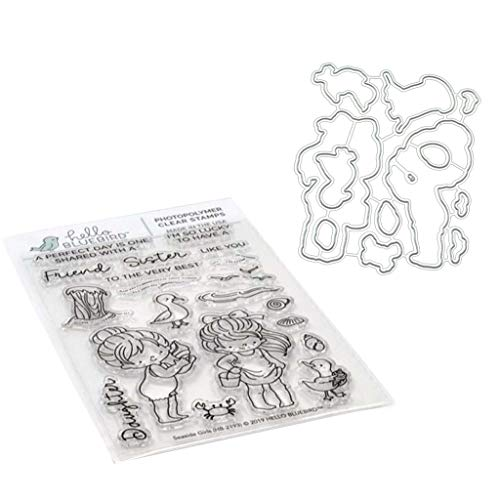 SHURROW Plantillas de Troqueles de Corte de Metal de Amigo para DIY Scrapbooking Tarjeta de Papel en Relieve Regla de Medida Acero al Carbono
