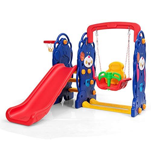 Costzon Toddler 4-in-1 Climber Slide Playset
