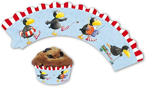 DER KLEINE RABE SOCKE 12 Cupcake Banderolen Muffins und Cupcakes // Party Kindergeburtstag Geburtstag Kinder Mottoparty