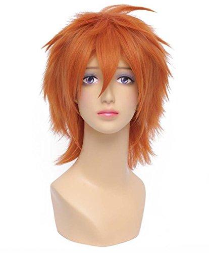 etruke Anime Naruto Court Orange Kurosaki Ichigo Costume Cosplay Perruques