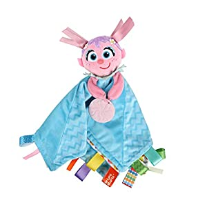 Bright Starts Sesame Street Snuggles with Abby Baby's First Soothing Blanket, Ages 0-12 Months