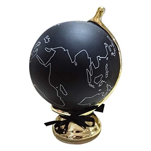 Annastore Spardose Weltkugel, schwarz mit Kreide zum Beschriften Sparbüchse