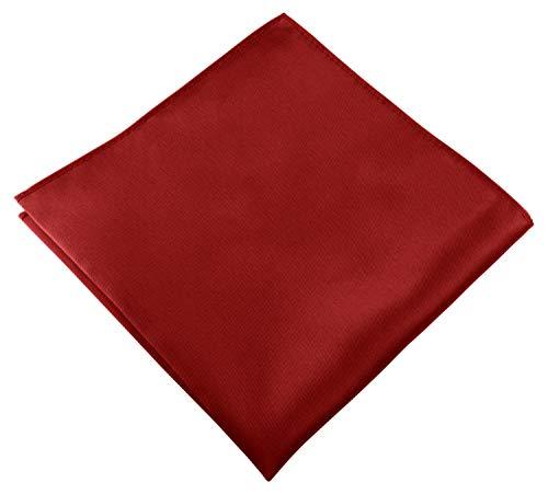 Helido Einstecktuch für Herren, 30 x 30 cm, Stoff-Taschentuch passend zu Anzug/Sakko – als Ergänzung zum Tuch eignen sich Fliege oder Krawatte (Rot)