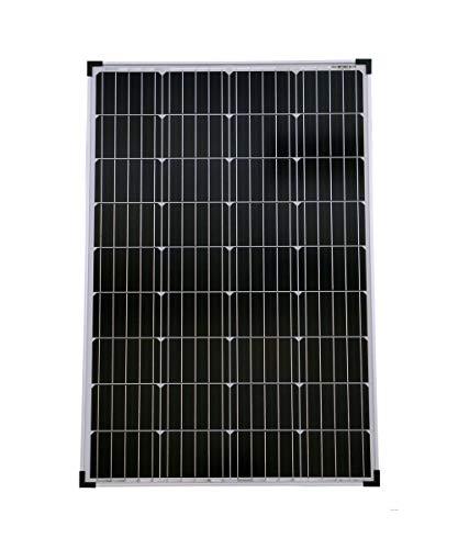 solartronics Solarmodul 100 Watt 1000x675x30 Monokristallin Solarpanel Solarzelle 5 Busbars 12V