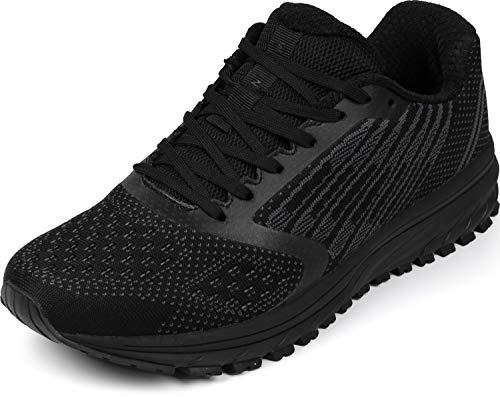 WHITIN Laufschuhe Damen Herren Sportschuhe Straßenlaufschuhe Hallenschuhe Sneakers Jungen Joggingschuhe Turnschuhe Fitnessschuhe Schicke Schuhe Schwarz Größe 36