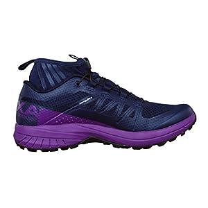 Salomon Women's XA ENDURO W Trail Runner, Evening Blue/Grape Juice/Black, 6.5 M US