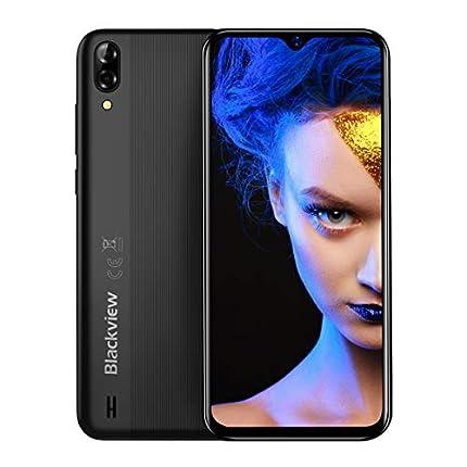 Blackview A60 Teléfono Móvil, Android 8.1 Smartphone Dual SIM con Pantalla 6.1-Inch Water-Drop Screen, 13MP+2MP+5MP, 16GB ROM (SD 128GB), 4080mAh Batería Smartphone Libre -Negro