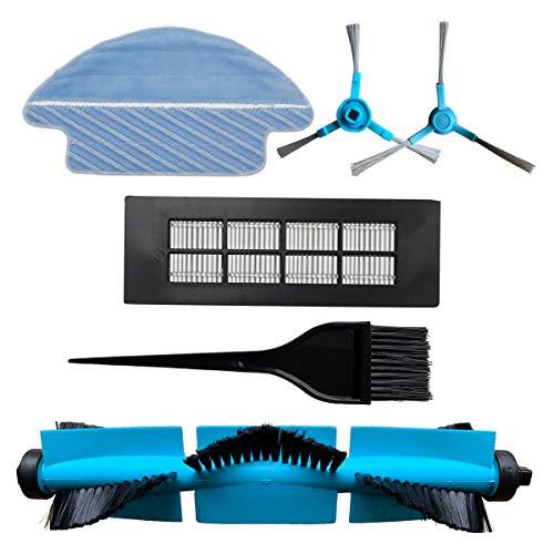 REYEE Pack de 6 Kit de Accesorios de Repuesto para Cecotec Conga 3090 Robot Aspiradora 1- HEPA Filtrar & 1- Herramienta de Limpieza & 2- Cepillo Lateral & 1- Cepillo Principal & 1 - Trapo de Limpieza