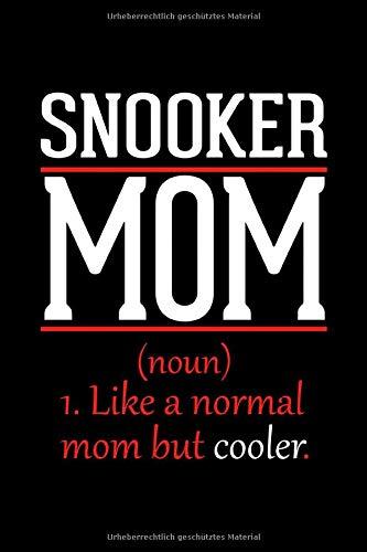 Snooker Mama Notizbuch: Journal und Tagebuch 120 linierte Seiten im Din A5 Format Geschenk für Snooker Mutter zum Muttertag