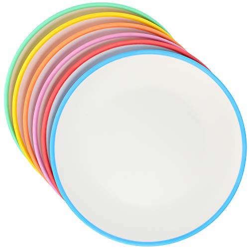 com-four® 6x Teller - Kunststoffteller aus Melamin - Multifunktionsteller in verschiedenen Farben - bruchfest (23cm - 6 Stück)