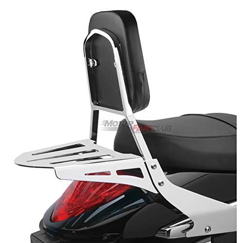 MotorFansClub Sissy - Cojín de respaldo para asiento trasero de pasajero, compatible con Suzuki Boulevard M109R M109R2 M109RZ Limited Boss plateado