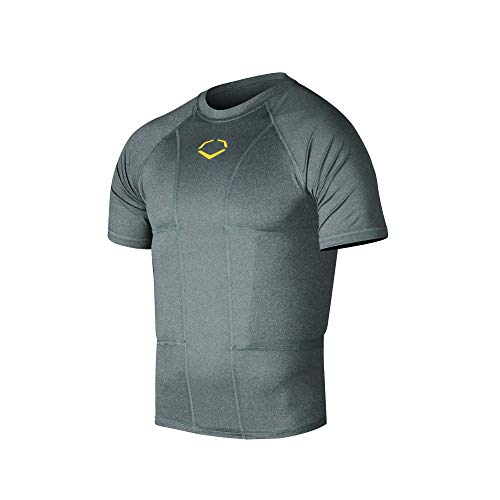 EvoShield Adult Performance Rib Shirt, Charcoal - Medium