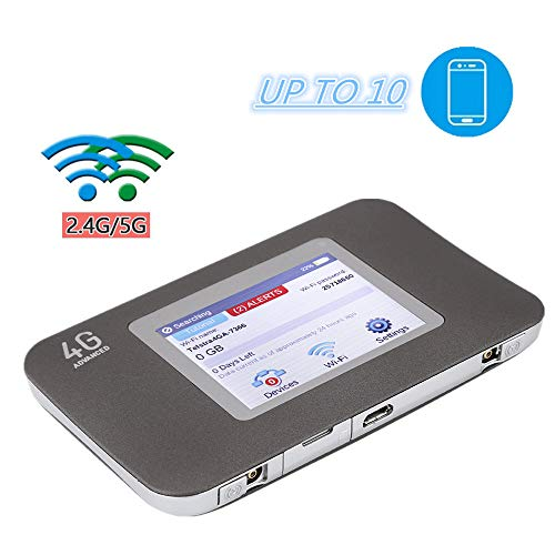 Router 4G, 2500mAh Mini Lockless Net Air Card 150Mbps 4G LTE WiFi Router 4G Dongle Router Conecte hasta 10 Dispositivos WiFi