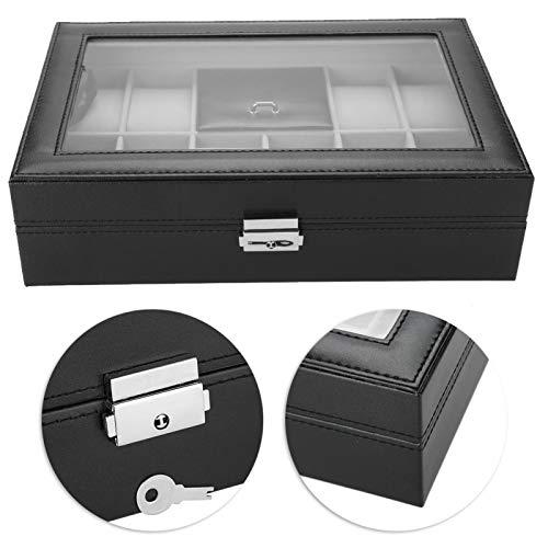 DAUERHAFT Caja de Almacenamiento del Reloj de la Caja de Almacenamiento del Reloj de Cuero de la PU para el Almacenamiento casero de la joyería con diseño Elegante
