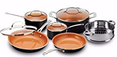 The Gotham Steel 10 piece pots and pans set include everything you need for your kitchen, including a complete suite of nonstick and lightweight fry pans, stock pots, sauce pans, steamers. Award winning Ti-Cerama coating ensures the ultimate release ...