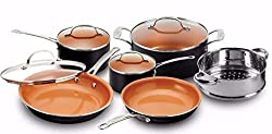 top rated Gotham steel pots and pans, 10-piece cookware with anti-stick ceramic coating by chef Daniel … 2021