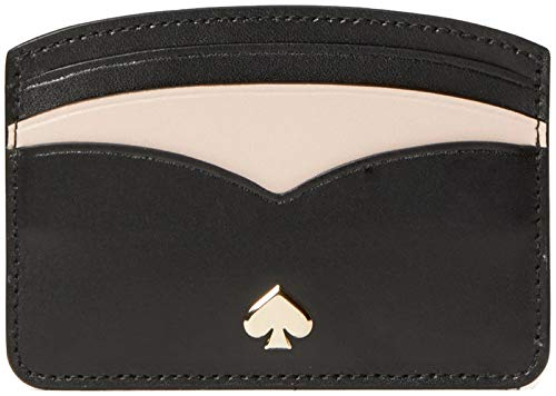 Kate Spade Nadine Scalloped Credit Card Holder Card Case Wallet, Nw Black