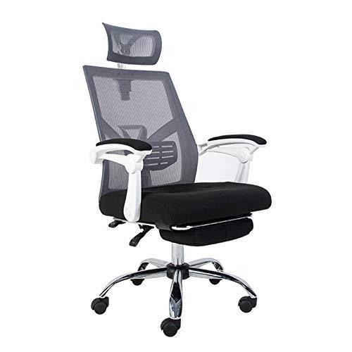 ZLQBHJ Sillas de escritorio de oficina, Ergonómicas de oficina sillón reclinable, silla de escritorio respaldo alto con soporte lumbar, Asiento regulable en altura, reposacabezas transpirable malla, e