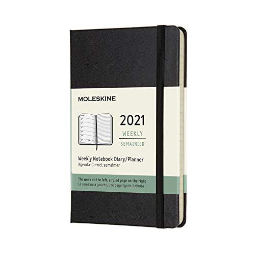 モレスキン 手帳 2021年 1月始まり 12ヶ月 ウィークリーダイアリー ハードカバー ポケットサイズ ブラック DHB12WN2Y21