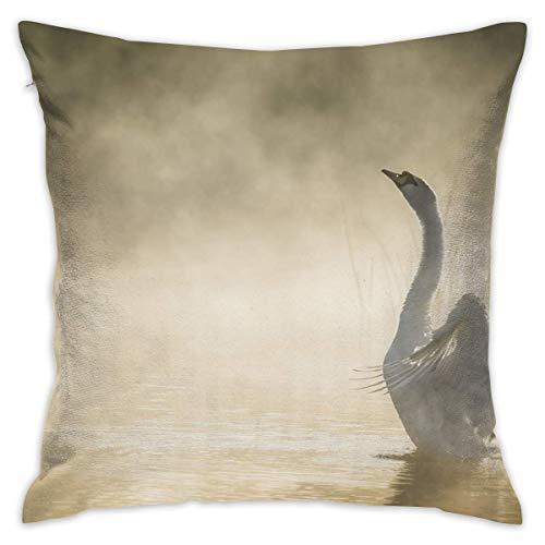 Moily Fayshow Fodera per Cuscino di tiro Swan Bed Sofa Pillow Case Cuscino per Dormire Cuscino Morbido 40 X 40