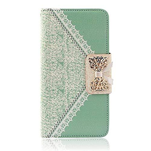 ¡Ofertas! Scpink Funda de cuero duradera, fresca, con tapa y tapa, para iPhone 6 Plus 5.5 (Verde)