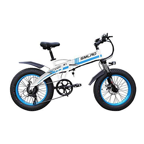 WFIZNB Bicicleta Plegable Bicicleta eléctrica Fat Tire Hombres de la montaña 48V...