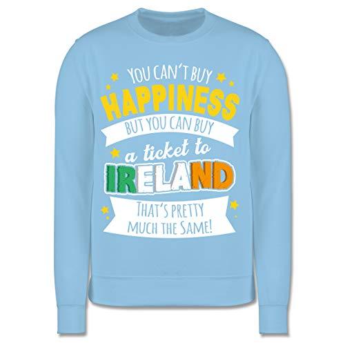 Anlässe Kinder - A Ticket to Ireland - weiß - 140 (9/11 Jahre) - Hellblau - Ticket to Ireland - JH030K - Kinder Pullover