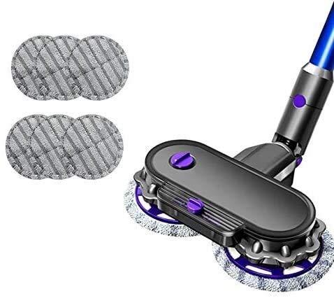DONGYAO Para V7 V8 V10 V11 Aspirador Accesorios 1 Mopa Cabeza + 6 trapeador Paño 150 ml Capacidad Depósito de Agua para Aspiradora