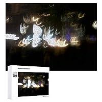 INOV ぼやけられた都市ライト ジグソーパズル 木製パズル 500ピース 38 x 52cm 人気 パズル 大人、子供向け 教育玩具 ストレス解消 ギフト プレゼントpuzzle