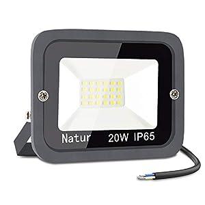 20W LED Foco Exterior,bapro 6000k Alto Brillo Proyector Led,Impermeable IP65 Floodlight Led Iluminación para Patio, Camino, Jardín, Almacén (Blanco frío,20W)[Clase de Eficiencia Energética A++]