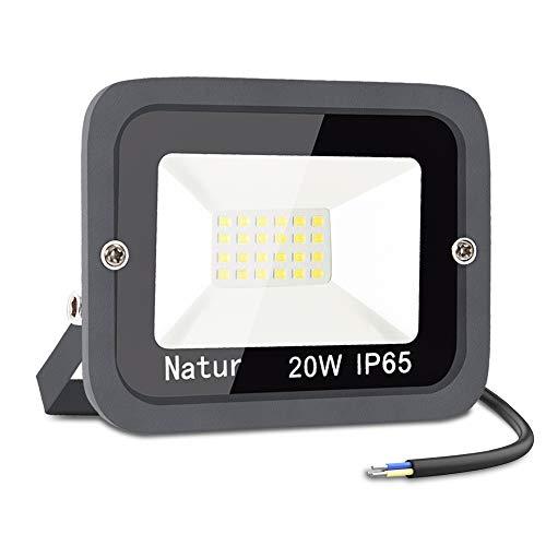 20W LED Foco Exterior,bapro 3000k Alto Brillo Proyector Led,