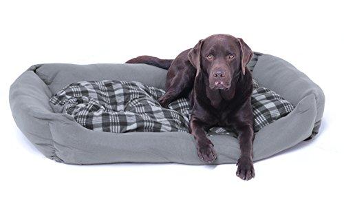 SAUERLAND XXXL Hundebett/Hundekissen grau, 120x80 cm mit Wendekissen, Liegematte, Liegekissen, Hundematte