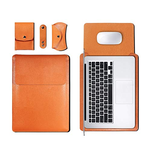 WSY PU Leather Sleeve Bag Case For Macbook Air Pro 11 12 13 15 16 Cover A1466 Liner Sleeve For Macbook Air 13.3 Case (Color : Brown, Size : 13 inch)