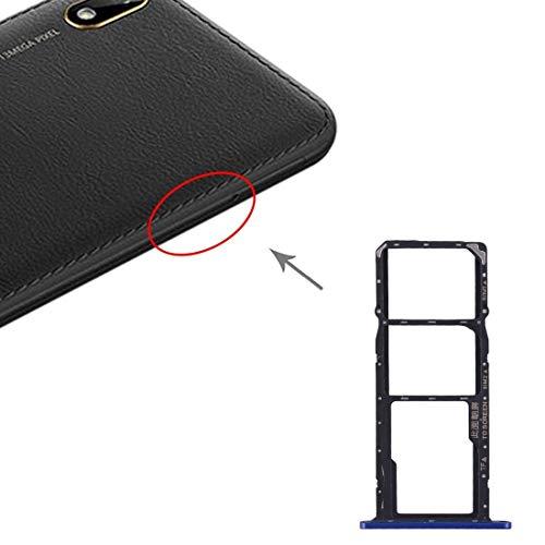 Liluyao Hdfht Bandeja de Tarjeta SIM Bandeja de Tarjeta SIM Bandeja de Tarjeta Micro SD for Huawei Y5 Piezas de Repuesto de Huawei (Color : Blue)