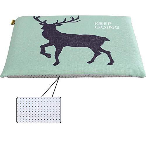 HDKDAS Seat Cushion Chair Cushions Car Mat Cushion Cushion-45 * 45cm_Snowflake Deer Cushion Pads Seat Pads (Color : 4, Size : 45 * 45cm)