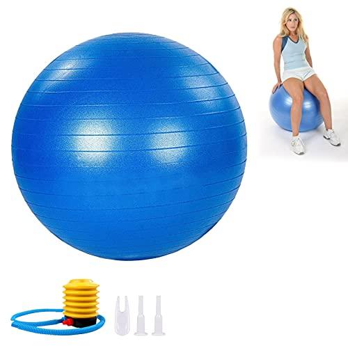 Pelota de Ejercicios Gimnasio Yoga,Pelota de Pilates,Fitness Pelota de Ejercicio para Fitness 65-85CM Anti-explosión con Bomba rápida para Entrenamiento Deportes