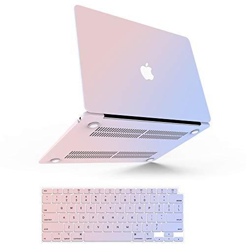 Estuche para MacBook Air M1, Estuche para MacBook Air de 13 pulgadas 2020 2019 2018 A2337 A2179 A1932, Carcasa Rígida de Plástico para Mac Air 2020 con Touch ID + 2 Cubiertas de Teclado, Rosa Azul