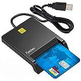 IC カードリーダーライダー 接触式 確定申告(E-Tax) ライタ ICチップのついた住民基本台帳カード 自宅で電子申告 USB接続 マイナンバーカード 住基カードに対応し CACメモリカードリーダー ブラッ Windows Mac OS対応