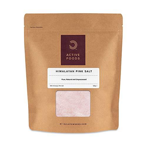 Bulk Pinkes Himalayasalz, Himalaya Salz, Steinsalz Fein, 500 g, Verpackung Kann Variieren