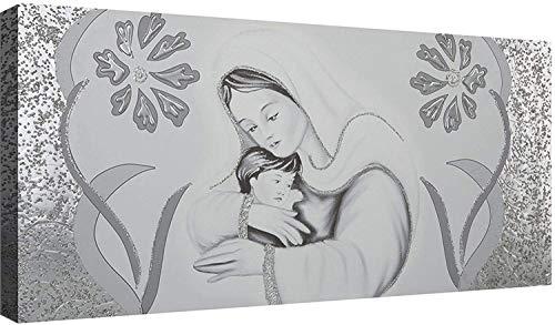 OGGETTANDO Capezzale Sacra Famiglia 05 cm 100x50 Quadri Moderni Soggiorno Stampa su Tela Camera da Letto