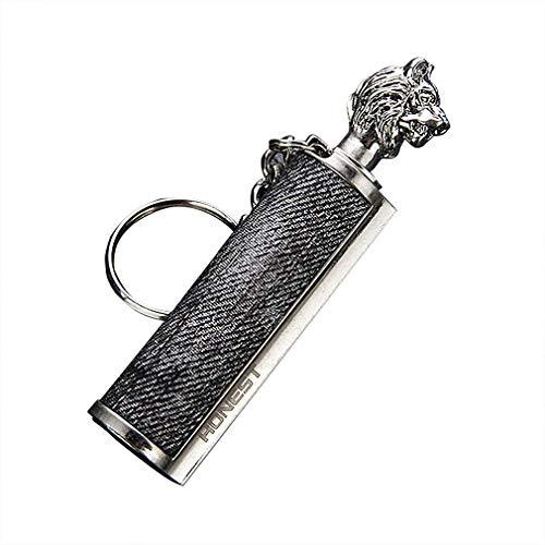 New Metal Waterproof Permanent Match Lighter Flint Fire Starter Free Fire Torch Kerosene Oil Gasoline Outdoor Survival Tool - Survival Streichholz - Streichholz Metall - Tolles Geschenk(KEIN ÖL)(Löwe)